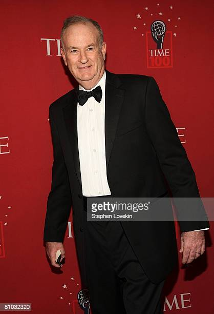 TV personality Bill O'Reilly arrives at TIME's 100 Most Influential People Gala at Frederick P Rose Hall on May 08 2008 in New York City
