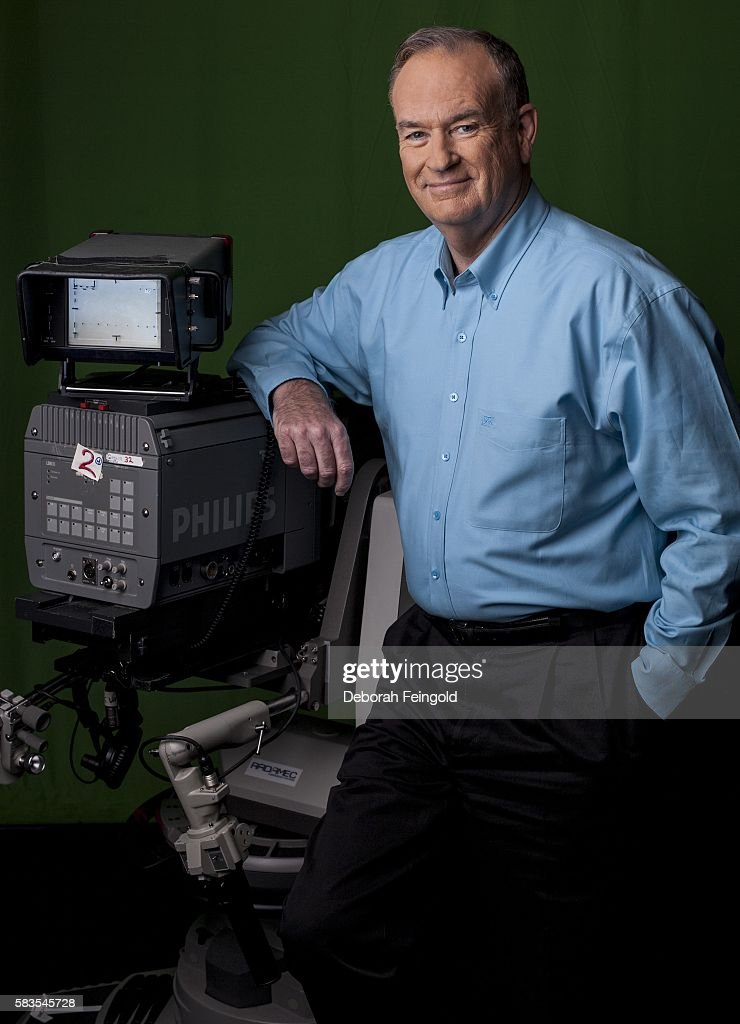 TV personality Bill O'Reilly poses for a portrait at Fox Television Studios on June 13 2007 in New York New York