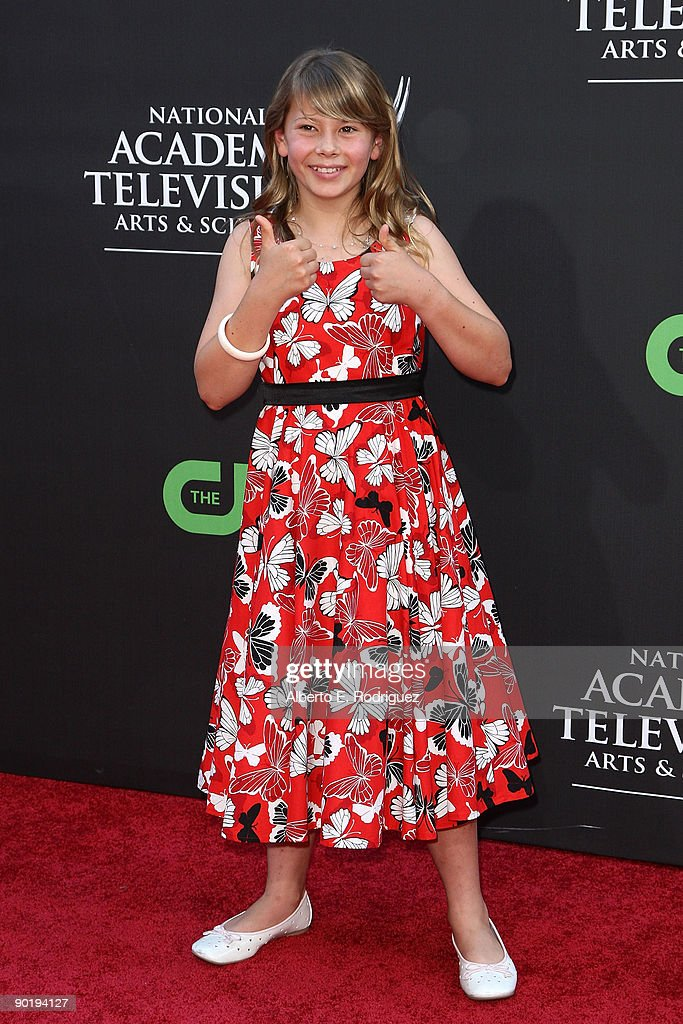 TV personality Bindi Irwin arrives at the 36th Annual Daytime Emmy Awards at The Orpheum Theatre on August 30, 2009 in Los Angeles, California.