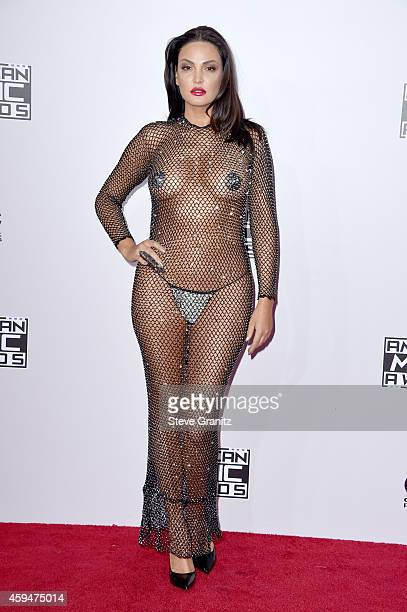 TV personality Bleona attends the 2014 American Music Awards at Nokia Theatre LA Live on November 23 2014 in Los Angeles California