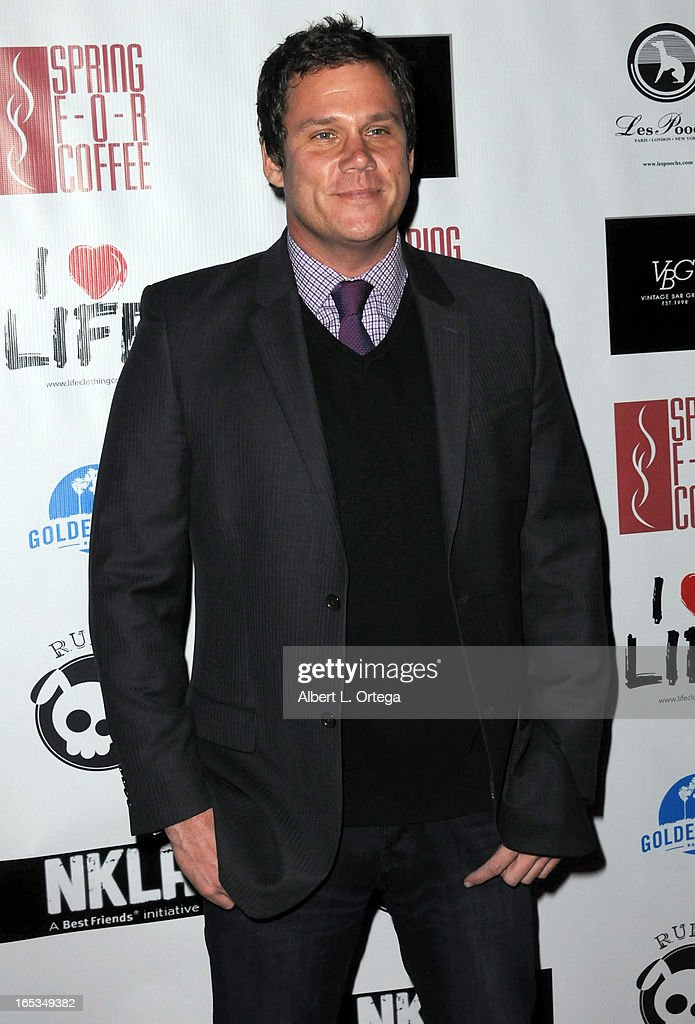 TV personality <a gi-track='captionPersonalityLinkClicked' href=/galleries/search?phrase=Bob+Guiney&family=editorial&specificpeople=212916 ng-click='$event.stopPropagation()'>Bob Guiney</a> arrives for the No Kill LA Charity Event held at Fred Segal on April 2, 2013 in West Hollywood, California.