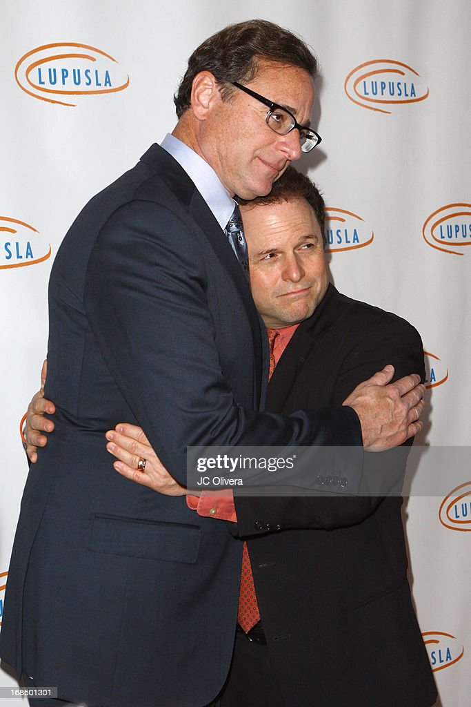 TV personality <a gi-track='captionPersonalityLinkClicked' href=/galleries/search?phrase=Bob+Saget&family=editorial&specificpeople=209388 ng-click='$event.stopPropagation()'>Bob Saget</a> (L) and Actor Jason Alexander attend Lupus LA 13th Annual Orange Ball Gala at Regent Beverly Wilshire Hotel on May 9, 2013 in Beverly Hills, California.