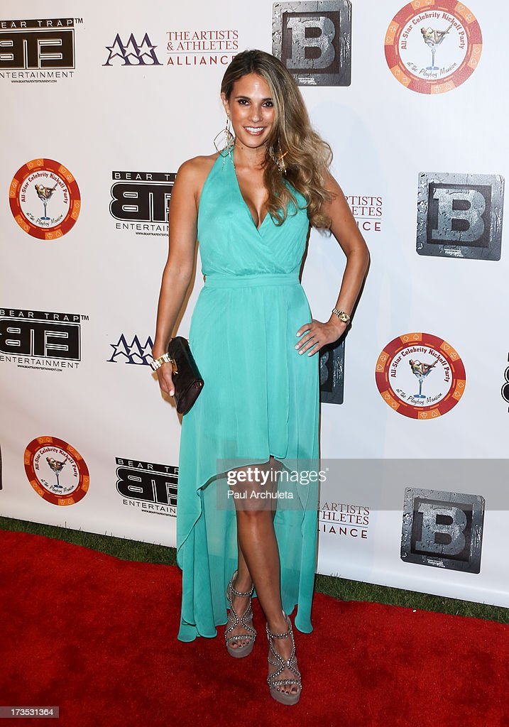 TV Personality Bonnie Jill Laflin attends the 8th annual BTE All-Star Celebrity Kickoff Party at The Playboy Mansion on July 15, 2013 in Beverly Hills, California.