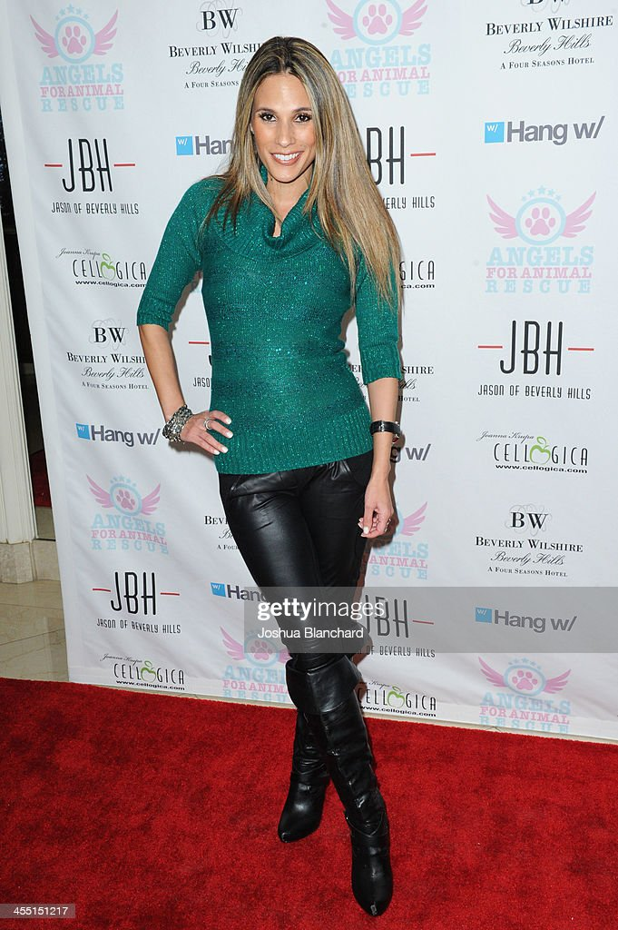 TV Personality <a gi-track='captionPersonalityLinkClicked' href=/galleries/search?phrase=Bonnie-Jill+Laflin&family=editorial&specificpeople=240579 ng-click='$event.stopPropagation()'>Bonnie-Jill Laflin</a> arrives at Angels For Animal Rescue benefit hosted by Joanna Krupa at the Beverly Wilshire Four Seasons Hotel on December 10, 2013 in Beverly Hills, California.