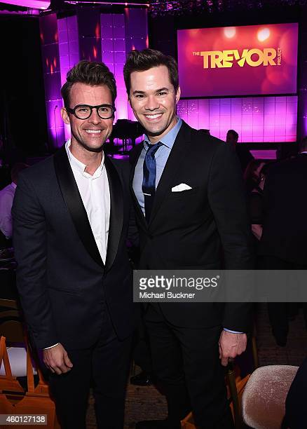 TV personality Brad Goreski and actor Andrew Rannells attend 'TrevorLIVE LA' Honoring Robert Greenblatt Yahoo and Skylar Kergil for The Trevor...