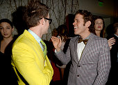 TV personality Brad Goreski and Perez Hilton arrive at the 24th Annual GLAAD Media Awards at JW Marriott Los Angeles at LA LIVE on April 20 2013 in...