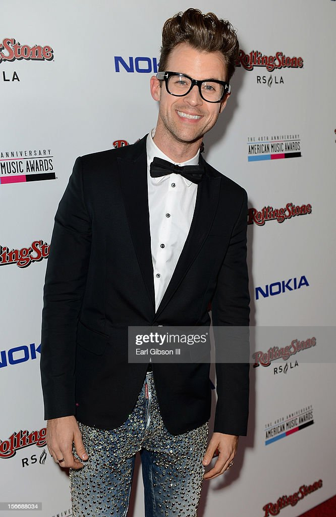 TV personality <a gi-track='captionPersonalityLinkClicked' href=/galleries/search?phrase=Brad+Goreski&family=editorial&specificpeople=3255296 ng-click='$event.stopPropagation()'>Brad Goreski</a> arrives at Rolling Stone Magazine Official 2012 American Music Awards VIP After Party presented by Nokia and Rdio at Rolling Stone Restaurant And Lounge on November 18, 2012 in Los Angeles, California.