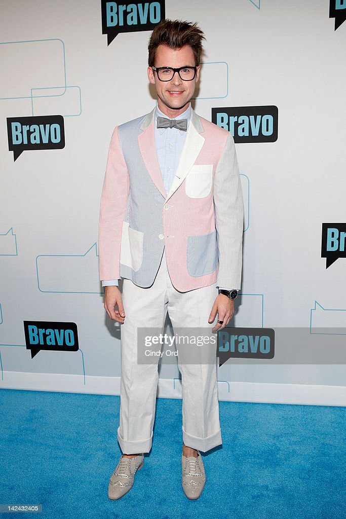 TV personality <a gi-track='captionPersonalityLinkClicked' href=/galleries/search?phrase=Brad+Goreski&family=editorial&specificpeople=3255296 ng-click='$event.stopPropagation()'>Brad Goreski</a> attends the Bravo Upfront 2012 at Center 548 on April 4, 2012 in New York City.