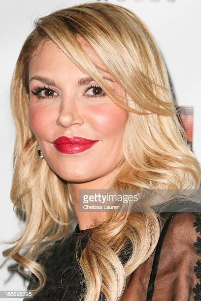 TV personality Brandi Glanville arrives at 'The Real Housewives Of Beverly Hills' and 'Vanderpump Rules' premiere party at Boulevard3 on October 23...