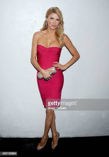 TV personality Brandi Glanville arrives at the Vivica A Fox 50th Birthday party at Philippe Chow on August 2 2014 in Beverly Hills California