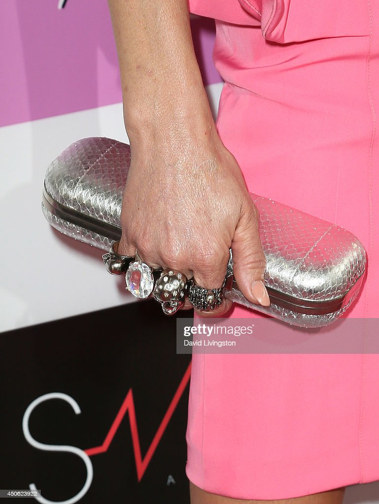 TV personality Brandi Glanville (purse & ring detail) attends the LadyLike Foundation's 6th Annual Women of Excellence Scholarship Luncheon at the Luxe Hotel on June 14, 2014 in Los Angeles, California.
