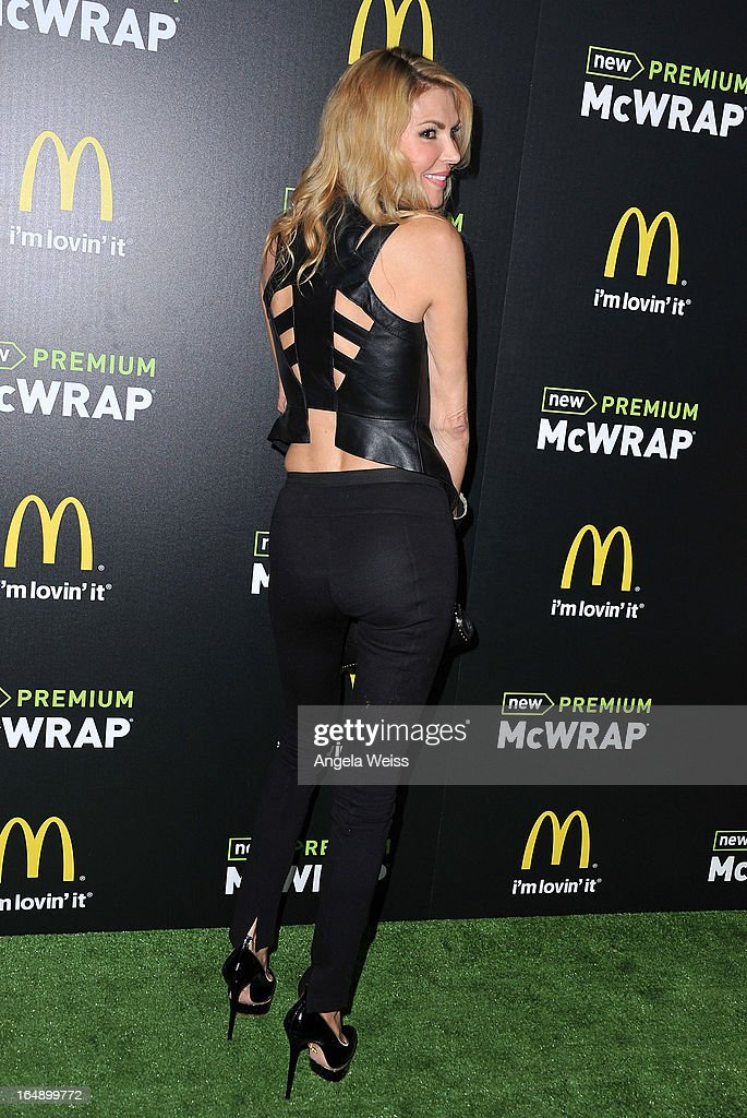 TV personality Brandi Glanville attends the launch party of McDonald's Premium McWrap at Paramount Studios on March 28, 2013 in Hollywood, California.