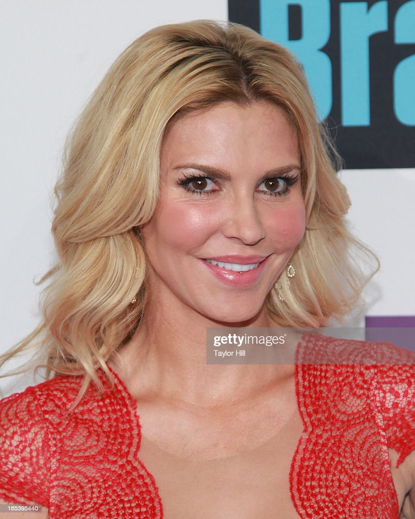 TV personality Brandi Glanville of 'The Real Housewives of Beverly Hills' attends the 2013 Bravo Upfront at Pillars 37 Studios on April 3, 2013 in New York City.