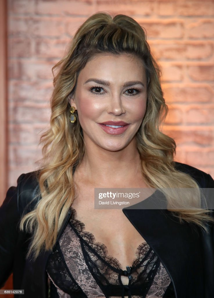 TV personality Brandi Glanville visits Hollywood Today Live at W Hollywood on February 13, 2017 in Hollywood, California.
