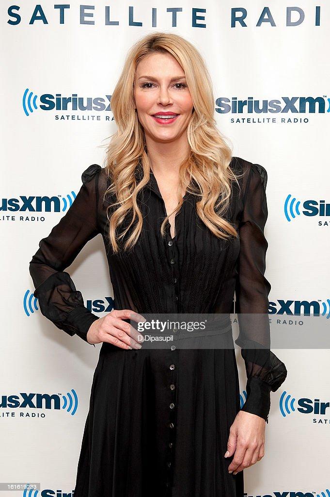 TV personality Brandi Glanville visits SiriusXM Studios on February 13, 2013 in New York City.