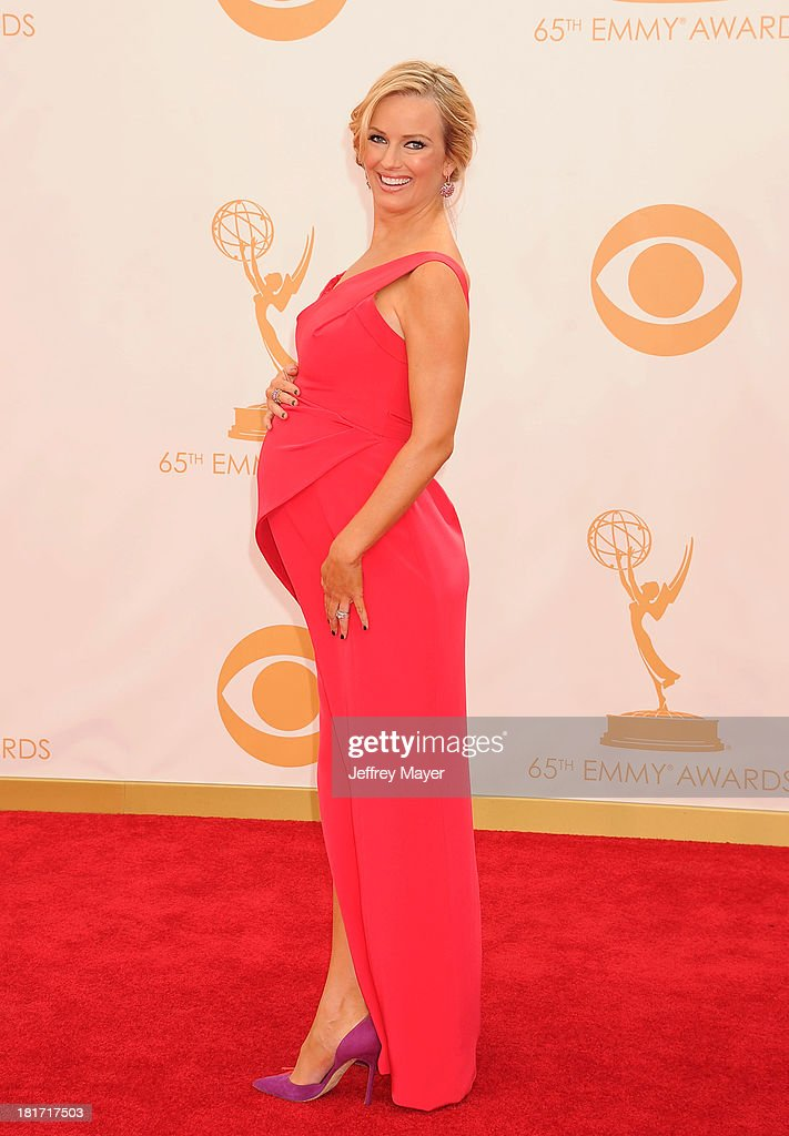 TV personality Brooke Anderson arrives at the 65th Annual Primetime Emmy Awards at Nokia Theatre L.A. Live on September 22, 2013 in Los Angeles, California.