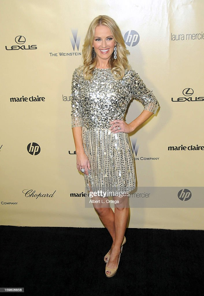TV personality Brooke Anderson arrives for the Weinstein Company's 2013 Golden Globe Awards After Party - Arrivals on January 13, 2013 in Beverly Hills, California.