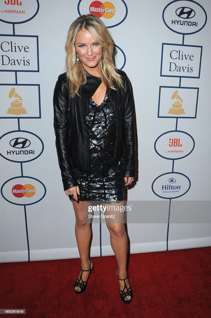 TV personality Brooke Anderson attends the 56th annual GRAMMY Awards Pre-GRAMMY Gala and Salute to Industry Icons honoring Lucian Grainge at The Beverly Hilton on January 25, 2014 in Los Angeles, California.