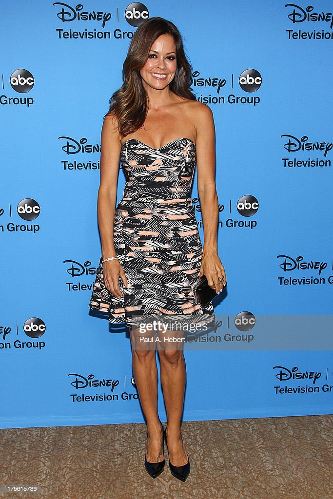 TV personality <a gi-track='captionPersonalityLinkClicked' href=/galleries/search?phrase=Brooke+Burke&family=editorial&specificpeople=203216 ng-click='$event.stopPropagation()'>Brooke Burke</a> Charvet attends the Disney & ABC Television Group's '2013 Summer TCA Tour' at The Beverly Hilton Hotel on August 4, 2013 in Beverly Hills, California.