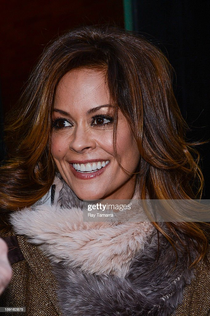 TV personality Brooke Burke leaves the 'Good Morning America' taping at ABC Times Square Studios on January 8, 2013 in New York City.