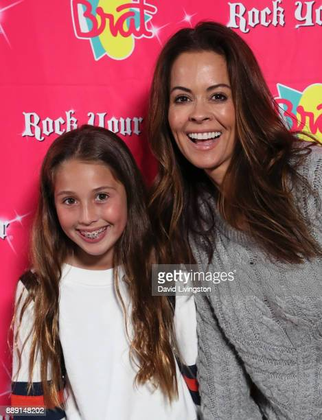 TV personality Brooke BurkeCharvet and daughter Heaven Rain Charvet attend social media influencer Annie LeBlanc's 13th birthday party at Calamigos...