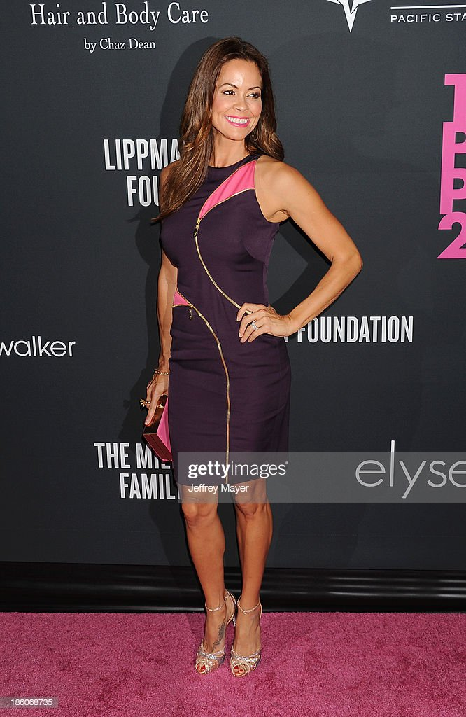 TV personality <a gi-track='captionPersonalityLinkClicked' href=/galleries/search?phrase=Brooke+Burke&family=editorial&specificpeople=203216 ng-click='$event.stopPropagation()'>Brooke Burke</a>-Charvet attends The Pink Party 2013 at Barker Hangar on October 19, 2013 in Santa Monica, California.