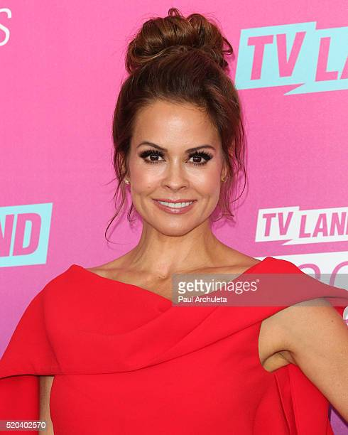 Personality Brooke BurkeCharvet attends the TV Land Icon Awards at The Barker Hanger on April 10 2016 in Santa Monica California