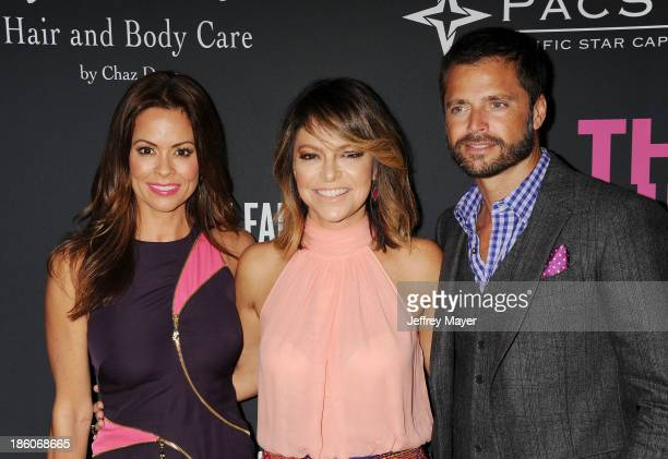 TV personality Brooke BurkeCharvet Pink Party Founder Elyse Walker and actor David Charvet attend The Pink Party 2013 at Barker Hangar on October 19...