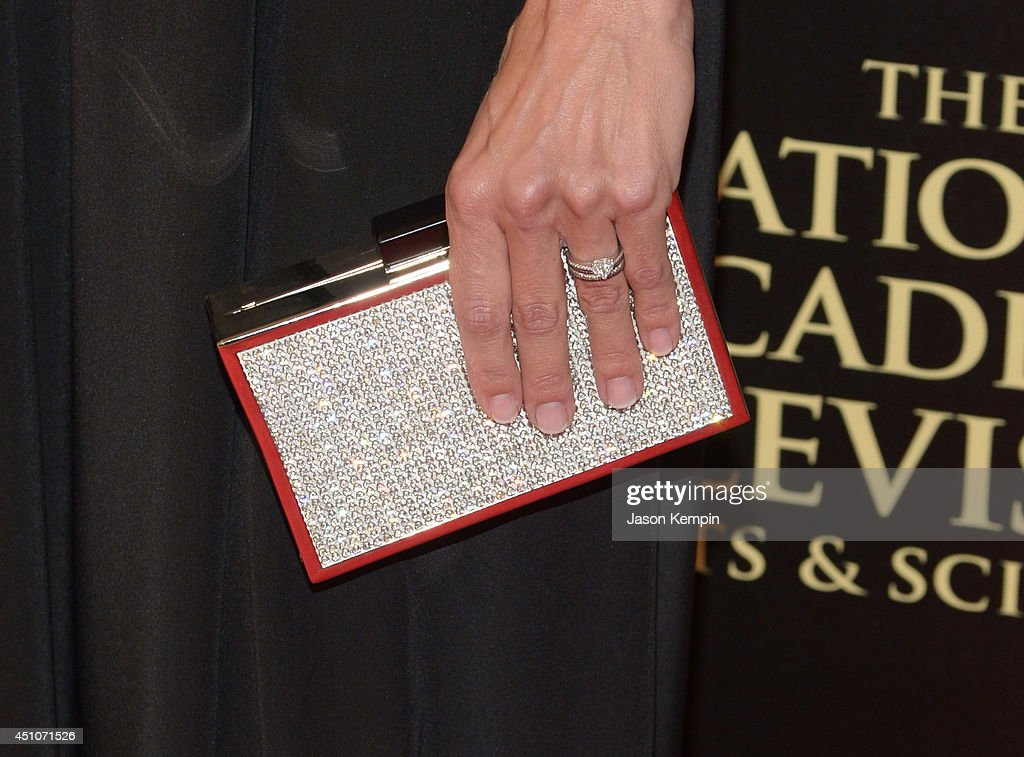 TV personality Brooke Burns (handbag detail) attends The 41st Annual Daytime Emmy Awards at The Beverly Hilton Hotel on June 22, 2014 in Beverly Hills, California.