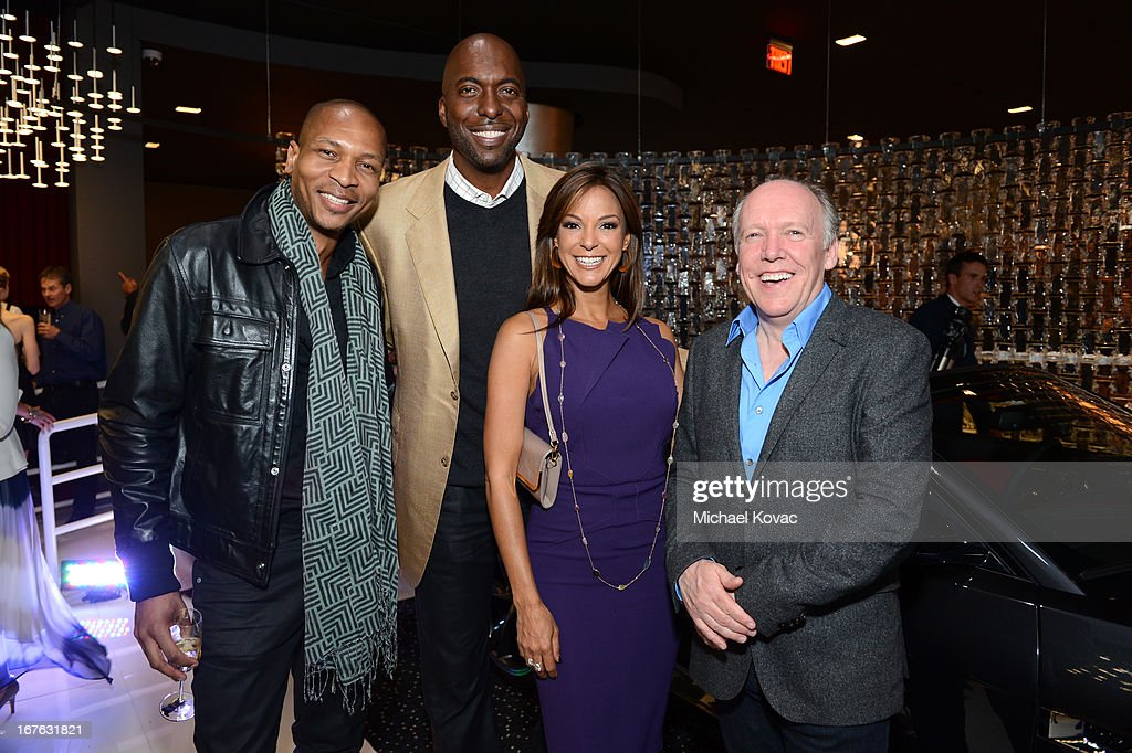 TV personality Bruce Reynolds, <a gi-track='captionPersonalityLinkClicked' href=/galleries/search?phrase=John+Salley&family=editorial&specificpeople=215276 ng-click='$event.stopPropagation()'>John Salley</a>, actress Eva La Rue and Jaguar Design Director Ian Callum attend the BritWeek Christopher Guy event with official vehicle sponsor Jaguar on April 26, 2013 in Los Angeles, California.