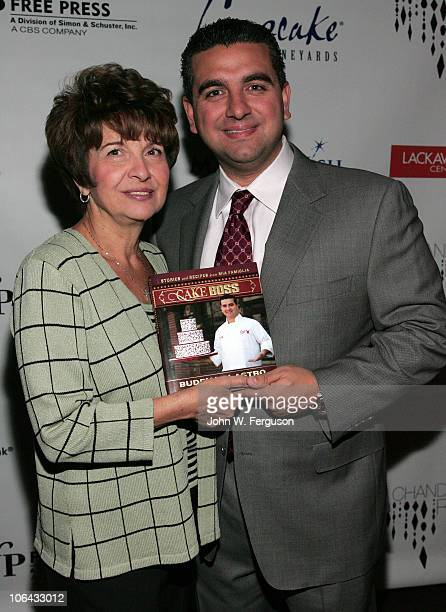 TV personality Buddy Valastro and mother Mary Valastro attend Cake Boss Buddy Valastro's book launch at W Hotel on November 1 2010 in Hoboken New...