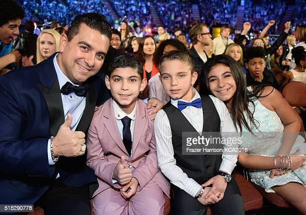 TV Personality Buddy Valastro Buddy Valastro Jr Marco Valastro and Sofia Valastro attend Nickelodeon's 2016 Kids' Choice Awards at The Forum on March...