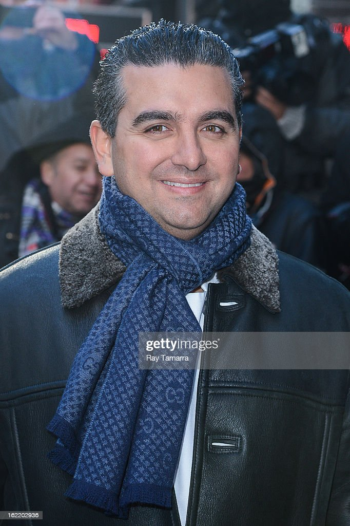 TV personality <a gi-track='captionPersonalityLinkClicked' href=/galleries/search?phrase=Buddy+Valastro&family=editorial&specificpeople=5810322 ng-click='$event.stopPropagation()'>Buddy Valastro</a> leaves the 'Good Morning America' taping at ABC Times Square Studios on February 20, 2013 in New York City.