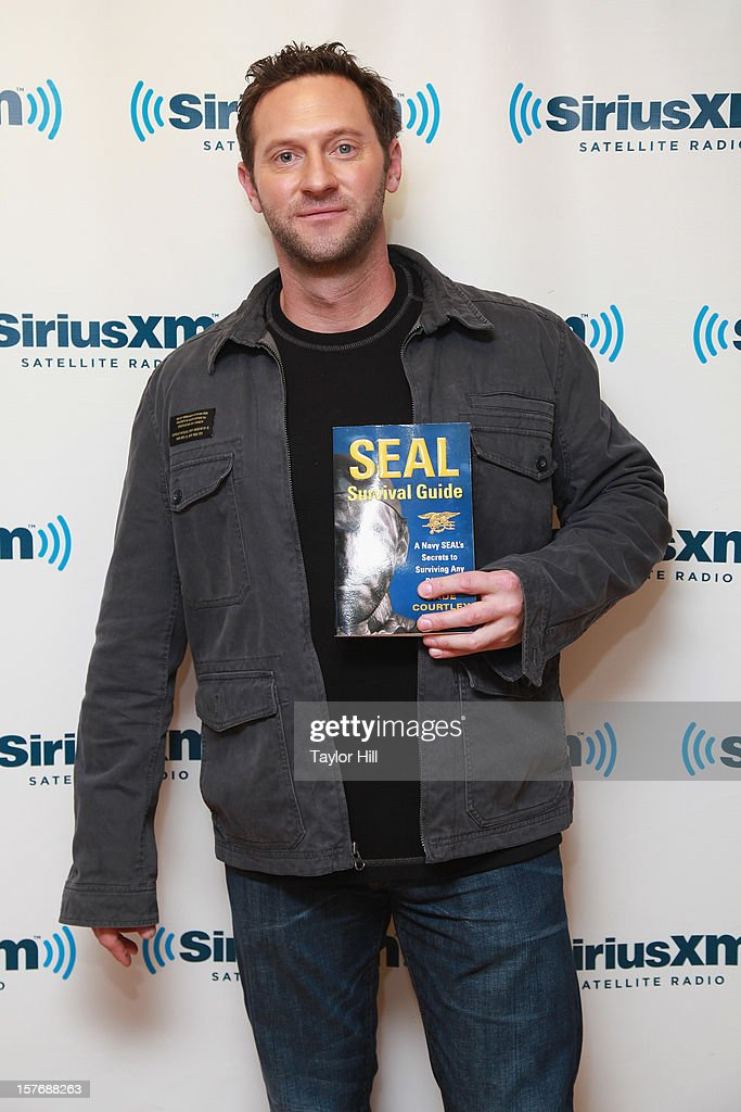 TV personality Cade Courtley promotes his book 'SEAL Survival Guide: A Navy SEAL's Secrets to Surviving Any Disaster' at the SiriusXM Studios on December 5, 2012 in New York City.