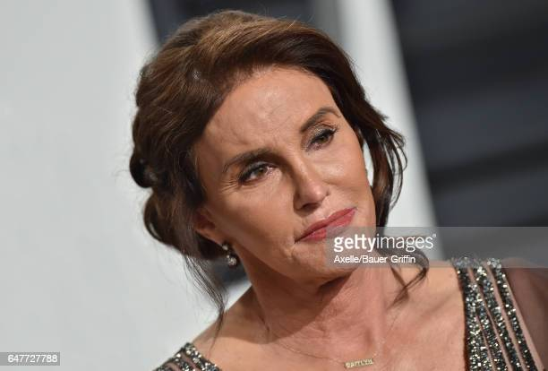 TV personality Caitlyn Jenner arrives at the 2017 Vanity Fair Oscar Party Hosted By Graydon Carter at Wallis Annenberg Center for the Performing Arts...