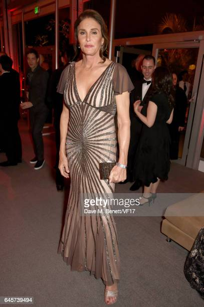TV Personality Caitlyn Jenner attends the 2017 Vanity Fair Oscar Party hosted by Graydon Carter at Wallis Annenberg Center for the Performing Arts on...