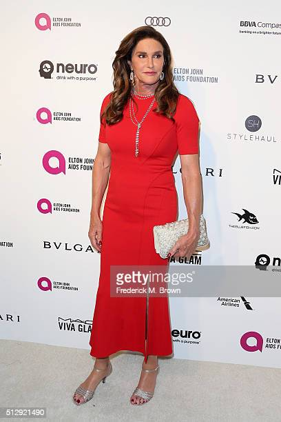 Personality Caitlyn Jenner attends the 24th Annual Elton John AIDS Foundation's Oscar Viewing Party on February 28 2016 in West Hollywood California