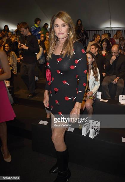 TV personality Caitlyn Jenner attends the Moschino Spring/Summer 17 Menswear and Women's Resort Collection during MADE LA at LA LIVE Event Deck on...