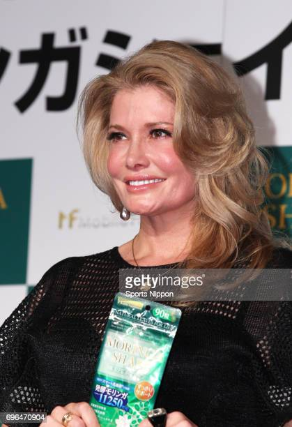 TV personality Caiya attends PR event of 'Moringa Shape' supplement on November 13 2013 in Tokyo Japan