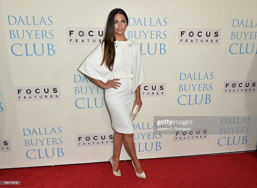 TV personality Camila Alves attends Focus Features' 'Dallas Buyers Club' premiere at the Academy of Motion Picture Arts and Sciences on October 17, 2013 in Beverly Hills, California.