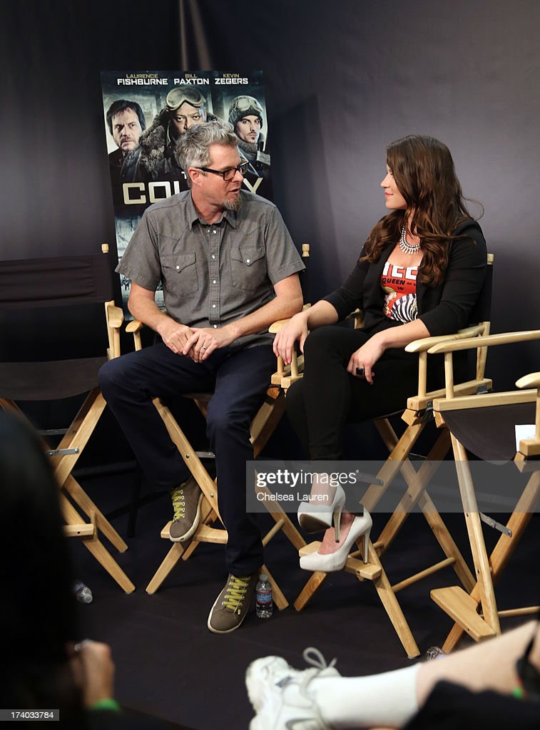 TV Personality Camille Ford (R) and director Jeff Renfroe attend 'The Colony' at The Movies On Demand Lounge during Comic-Con International 2013 at Hard Rock Hotel San Diego on July 19, 2013 in San Diego, California.