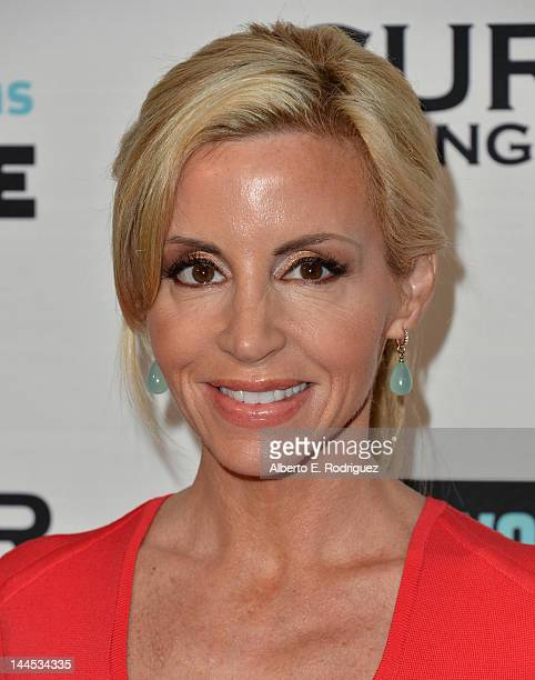 TV personality Camille Grammer arrives to Bravo Media's celebration of the book release of Andy Cohen's 'Most Talkative Stories From The Front Lines...
