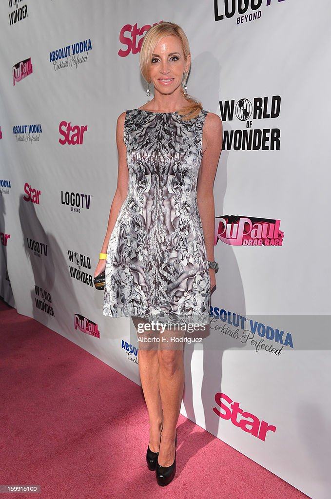 TV personality Camille Grammer arrives to the premiere of 'RuPaul's Drag Race' Season 5 at The Abbey on January 22, 2013 in West Hollywood, California.