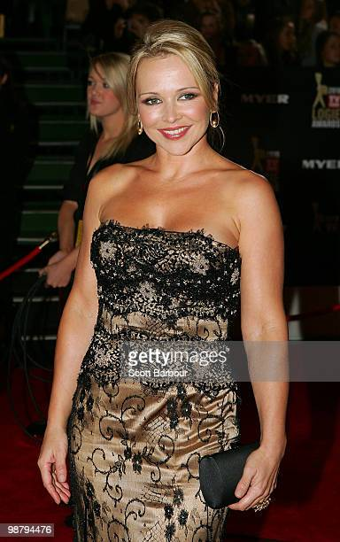 TV personality Carla Bonner arrives at the 52nd TV Week Logie Awards at Crown Casino on May 2 2010 in Melbourne Australia