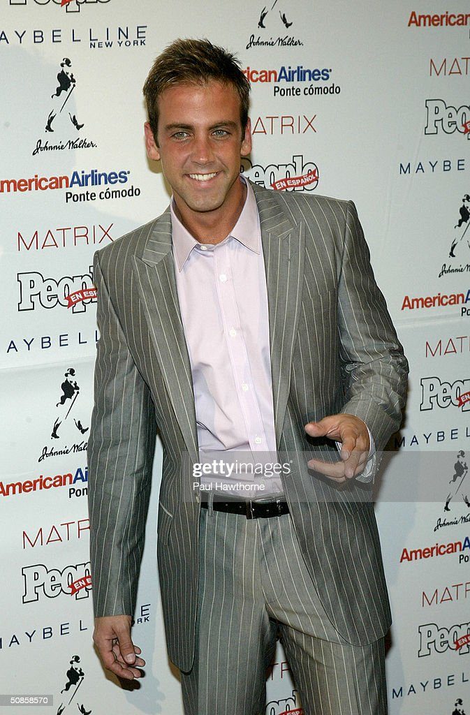 TV personality Carlos Ponce attends the 'People En Espanol' 50 Most Beautiful People Gala at Splashlight Studios May 19, 2004 in New York City.