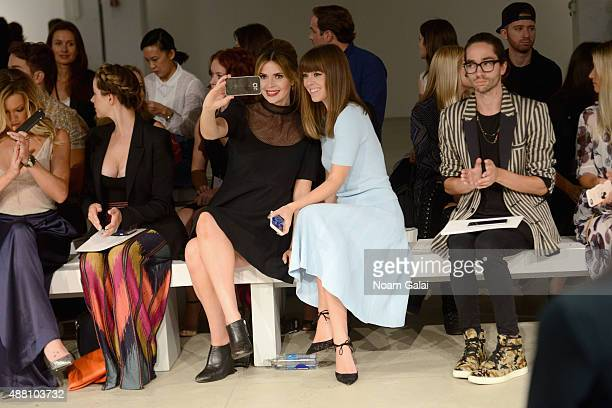 TV personality Carly Steel and blogger Jenny Bernheim attend Jenny Packham Spring 2016 during New York Fashion Week The Shows at The Gallery Skylight...