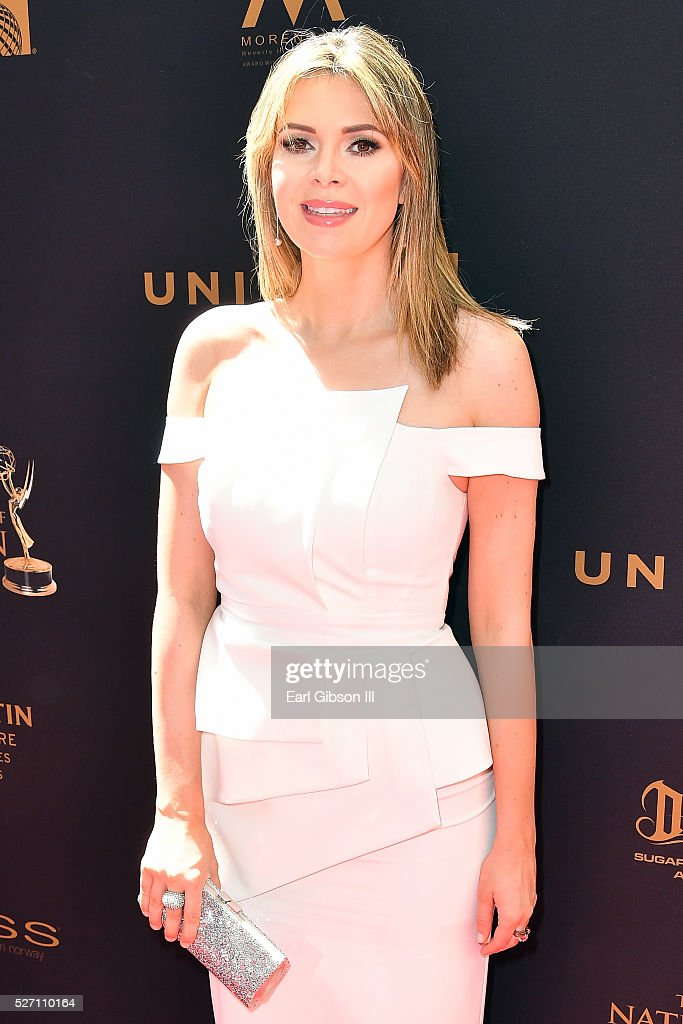 TV personality <a gi-track='captionPersonalityLinkClicked' href=/galleries/search?phrase=Carly+Steel&family=editorial&specificpeople=3963749 ng-click='$event.stopPropagation()'>Carly Steel</a> arrives at the 43rd Annual Daytime Emmy Awards at the Westin Bonaventure Hotel on May 1, 2016 in Los Angeles, California.