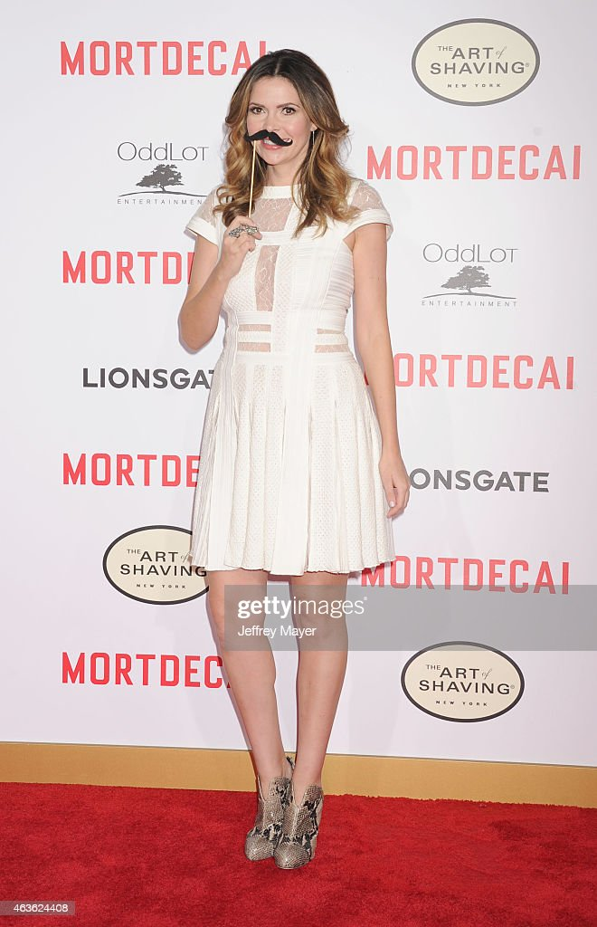 TV personality Carly Steel arrives at The Los Angeles Premiere Of 'Mortdecai' at TCL Chinese Theatre on January 21 2015 in Hollywood California