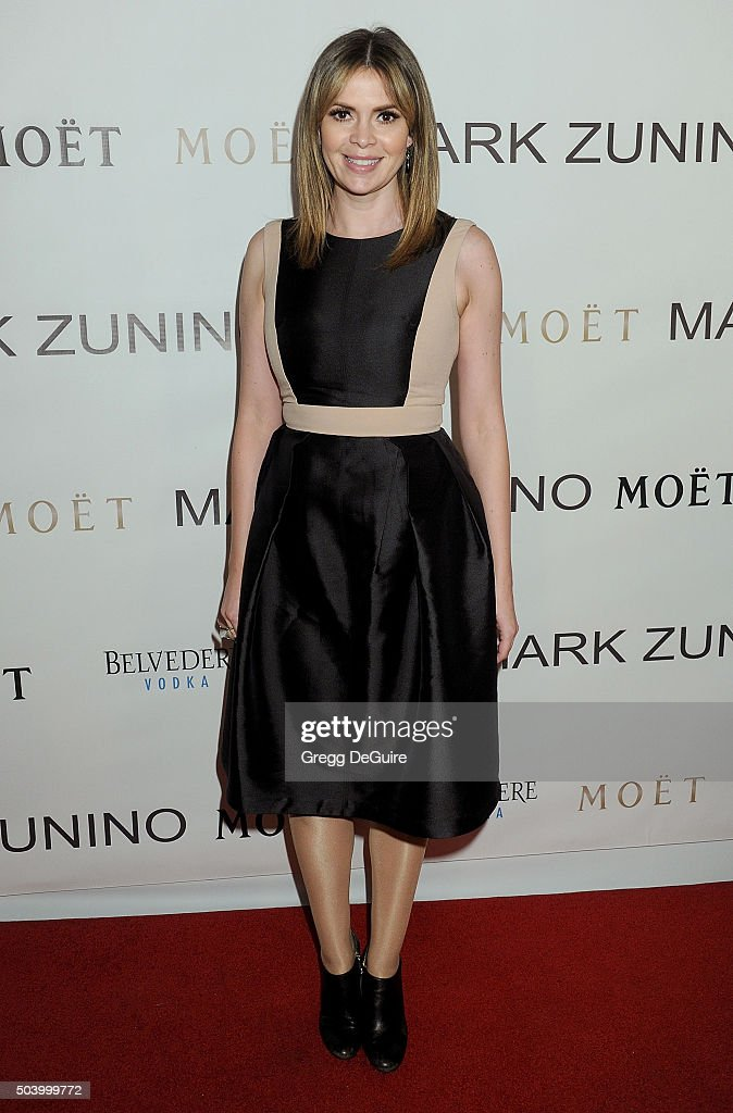 TV personality Carly Steel arrives at the Mark Zunino Atelier Opening at Mark Zunino Atelier on January 7 2016 in Beverly Hills California