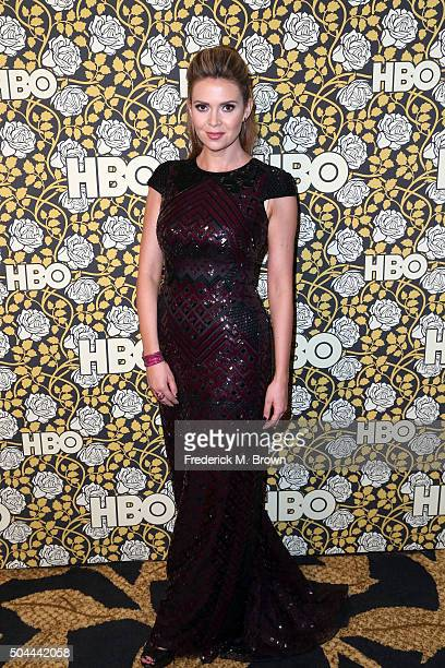 TV personality Carly Steel attends HBO's Post 2016 Golden Globe Awards Party at Circa 55 Restaurant on January 10 2016 in Los Angeles California